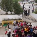 Το προαύλιο, οι βρύσες και η πάνω αυλή την Τσικνοπέμπτη του 2013