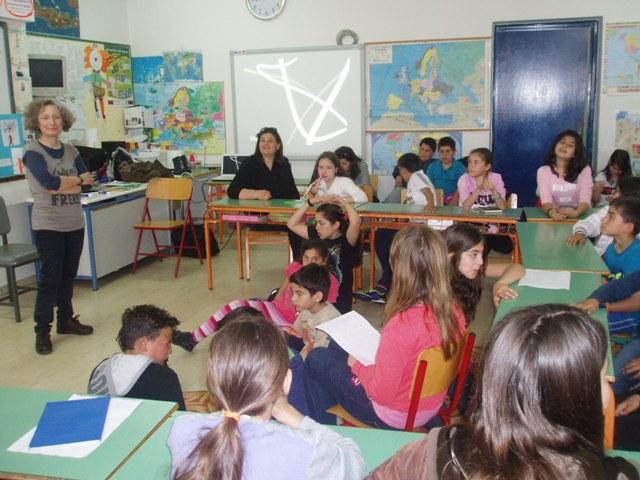 Η Μαρία Αγγελίδου στο σχολείο μας